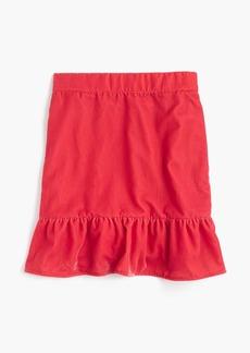 Peplum velvet skirt
