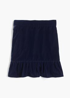 J.Crew Peplum velvet skirt