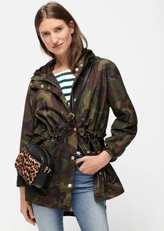J.Crew Perfect rain jacket in camo