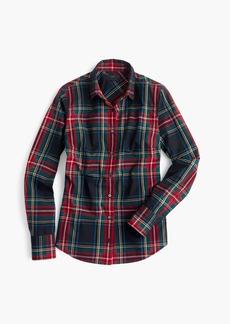 Petite perfect shirt in Stewart plaid