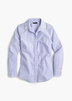 Perfect shirt with eyelet trim