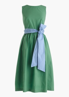 Petite A-line dress with tie