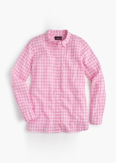 J.Crew Petite boy shirt in crinkle gingham
