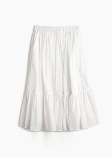 Clip-dot tiered skirt