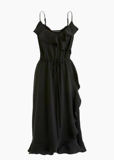 J.Crew Drapey ruffle faux-wrap dress