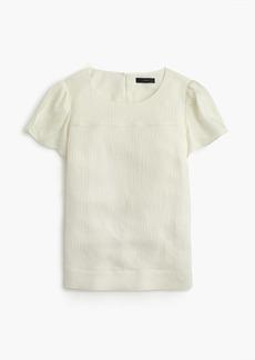 Hammered silk-blend top