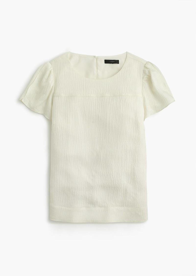 fa994de36a7f82 J.Crew Hammered silk-blend top | Casual Shirts - Shop It To Me