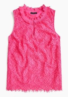 J.Crew Lace ruffle-neck top