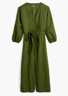 J.Crew Point Sur linen wrap jumpsuit