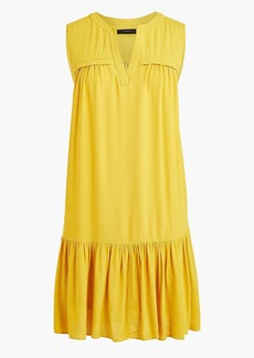 J.Crew Ruffle-hem shift dress