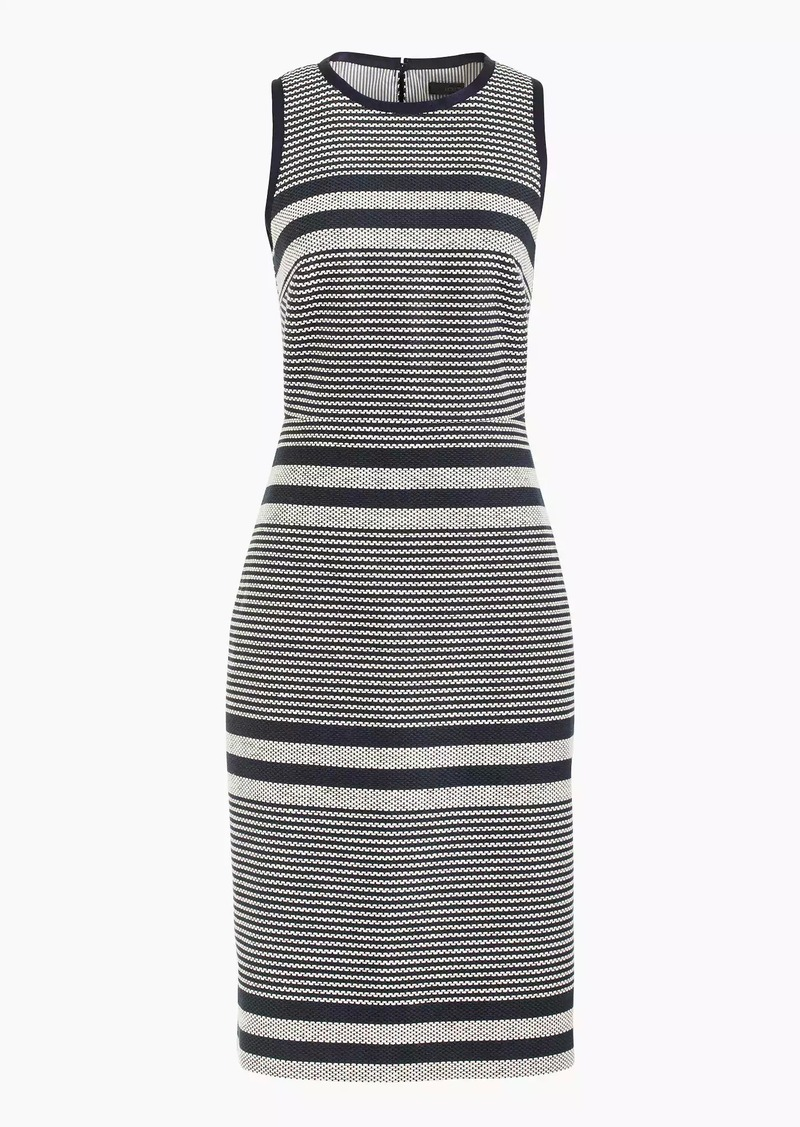 J.Crew Sheath dress in striped navy tweed