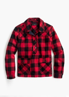 J.Crew Petite shirt-jacket in buffalo check