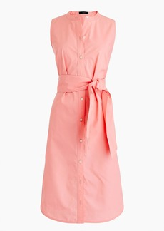 J.Crew Sleeveless shirtdress in cotton poplin