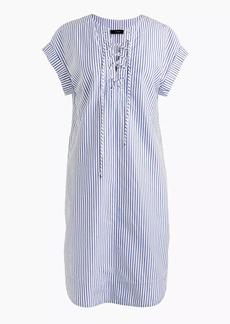 Tall striped lace-up shirtdress
