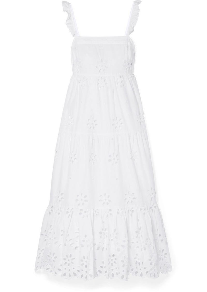 J.Crew Peyton Broderie Anglaise Cotton-voile Maxi Dress