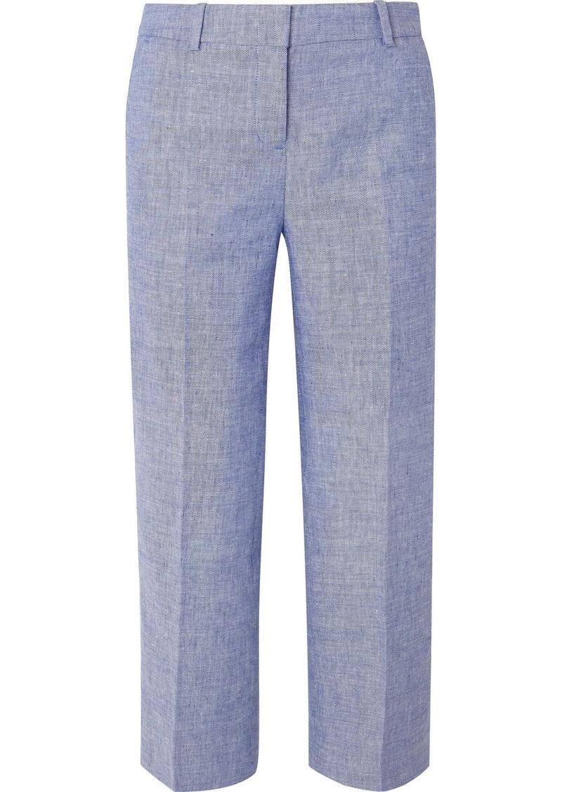 J.Crew Peyton Cropped Linen-blend Straight-leg Pants