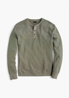 J.Crew Pigment-dyed cotton henley