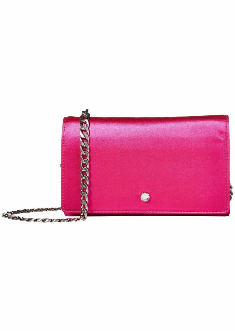 J.Crew Pink Satin Chain Wallet