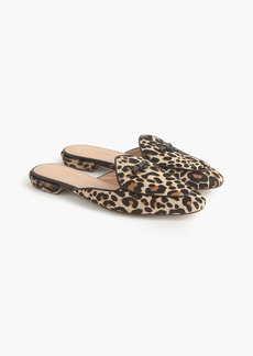 J.Crew Piped loafer mules in calf hair