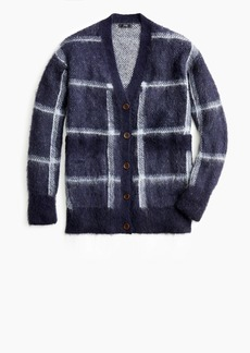 J.Crew Plaid front-pocket cardigan sweater