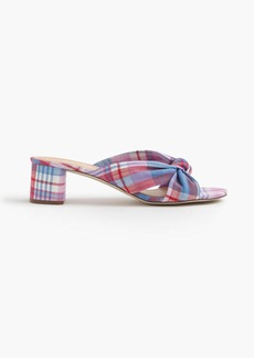 Plaid knotted slides