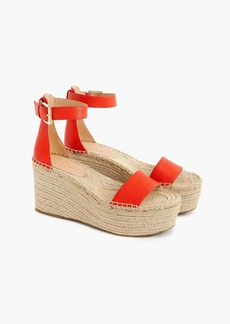 J.Crew Platform espadrille sandals in leather