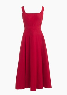 J.Crew Petite pleated A-line dress in faille