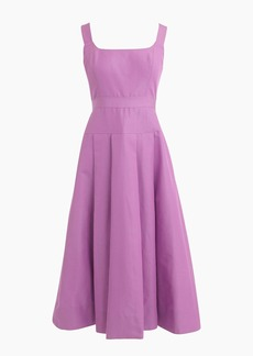 Petite pleated A-line dress in faille