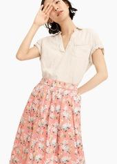 J.Crew Pleated floral midi skirt