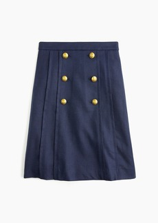 J.Crew Pleated-front sailor skirt in stretch linen