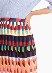 J.Crew Pleated midi skirt in art deco print