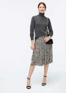 J.Crew Pleated midi skirt in leopard