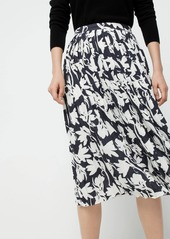J.Crew Pleated midi skirt in shadow floral