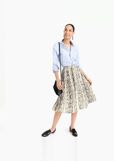 J.Crew Pleated midi skirt in snakeskin print