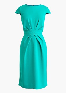 J.Crew Pleated sheath dress in 365 crepe