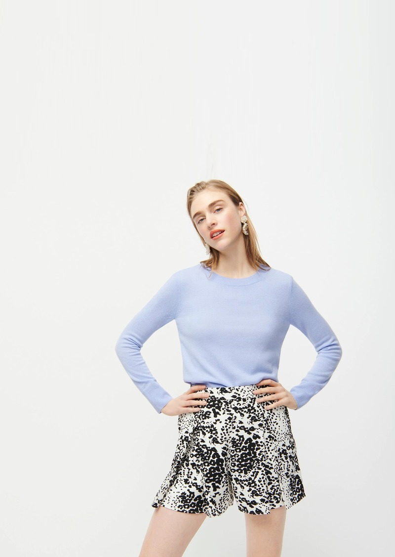 J.Crew Pleated short in leopard 365 crepe