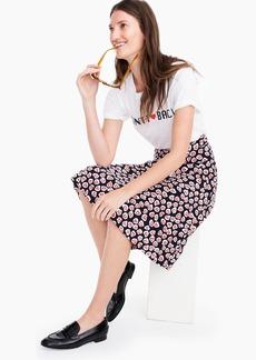 J.Crew Pleated skirt in 365 crepe heart print