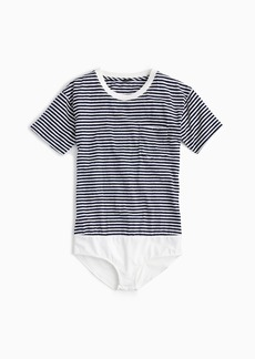 J.Crew Pocket T-shirt bodysuit in stripe