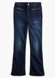 "J.Crew Point Sur 10"" demi bootcut jean with zip pockets"