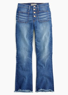 """J.Crew Point Sur 10"""" high-rise demi-boot jean with button fly"""