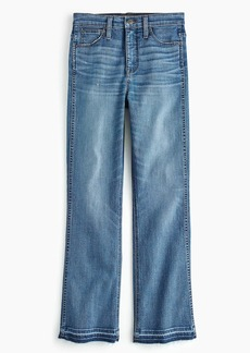 "J.Crew Point Sur 10"" high-rise demi-boot jean with let-down hem"