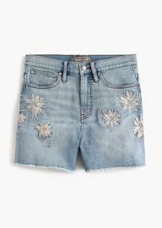 J.Crew Point Sur embroidered high-rise short in baltic cove wash