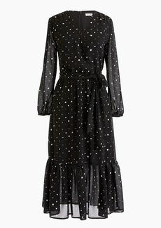 J.Crew Point Sur faux-wrap dress in crinkle chiffon