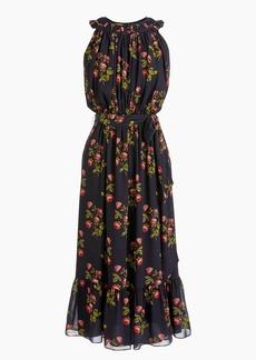 J.Crew Point Sur high-neck ruffle floral dress