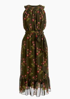 J.Crew Point Sur high-neck ruffle floral dress