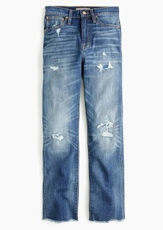 J.Crew Point Sur high-rise boyfriend jean with raw hems