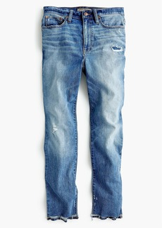 J.Crew Petite Point Sur high-rise boyfriend jean with uneven hems