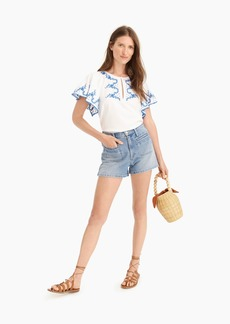 J.Crew Point Sur patch-pocket short in light river wash