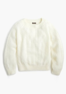 J.Crew Point Sur pointelle mockneck sweater