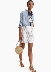 J.Crew Point Sur printed mini skirt in stretch grasscloth